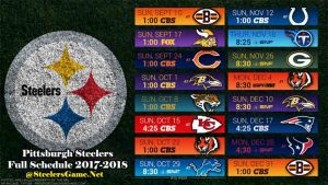 Pittsburgh Steelers Full Schedule 2017