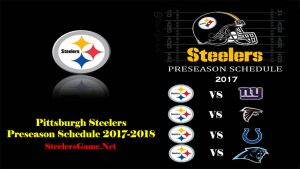 Pittsburgh steelers preseason schedule 2017
